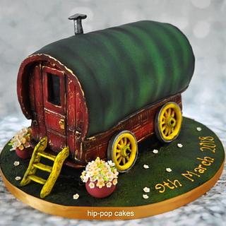 Gypsy caravan wedding cake
