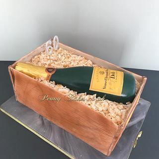 Veuve Clicquot cake!