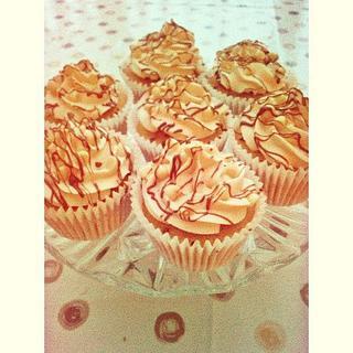 Vanilla and Chocolate Cupcakes.