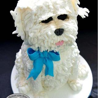 Cake carved Dog - 100% edible - 50cm - Cake by Açúcar com Arte