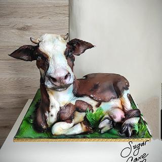 Cow  - Cake by Tanya Shengarova