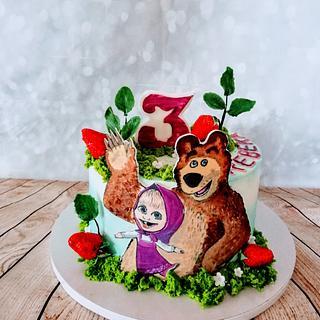 Masha and the Bear - Cake by alenascakes