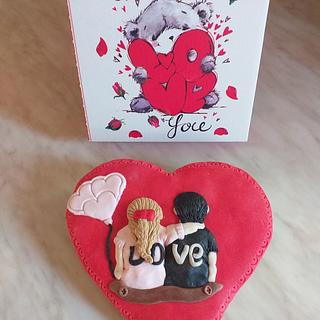 Valentines  - Cake by Pufi
