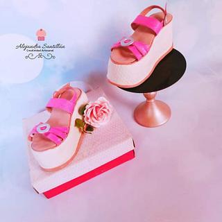 Cake sandalias
