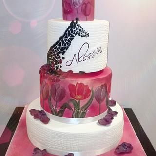 Tulips Cake - Cake by Angela Natale