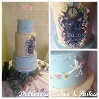 Wedding cake for Hannah and Matt