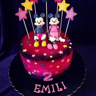 Minnie & Mickey cake