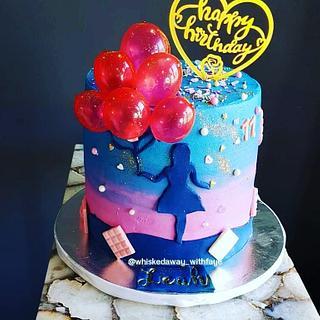 Girl Silhouette Cake - Cake by FayePramraj