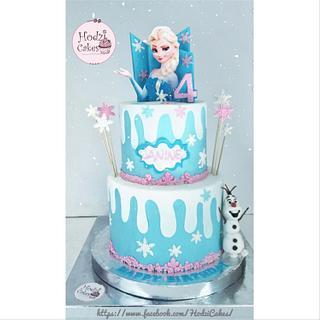 Frozen Elsa Cake💙❄️