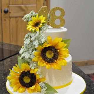 Sunflower Cake - Cake by Cakes For Fun