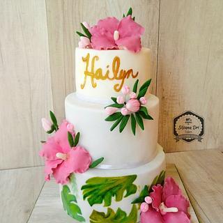 Hawaii Chic cake