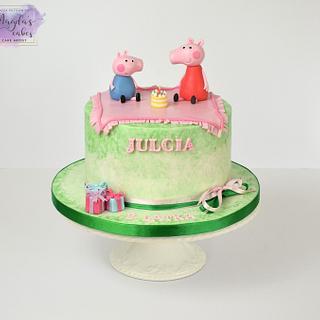 Peppa and George - Cake by Magda's Cakes (Magda Pietkiewicz)