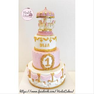 Pink Carousel Cake 💖🤗 - Cake by Hend Taha-HODZI CAKES