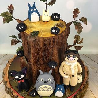 Totoro and friends anime wedding cake  - Cake by Melanie Jane Wright