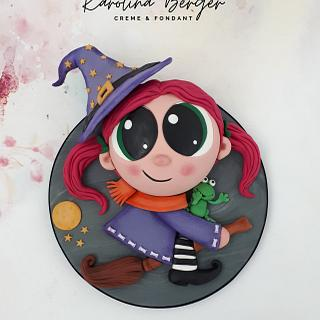 Halloween Little Witch Cake - Cake by Creme & Fondant