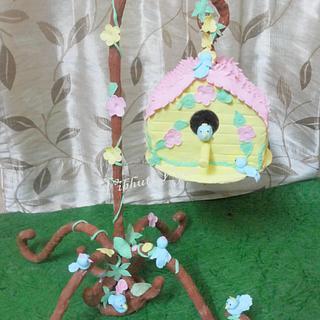 Hanging Bird House Cake