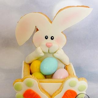 Easter rabbit cookie box