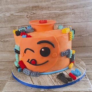 """Lego Cake for River  - Cake by June (""""Clarky's Cakes"""")"""