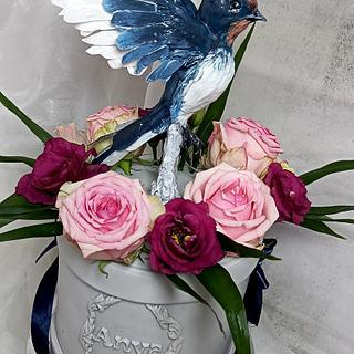 Bird cake, Swallows cake - Cake by EmyCakeDesign