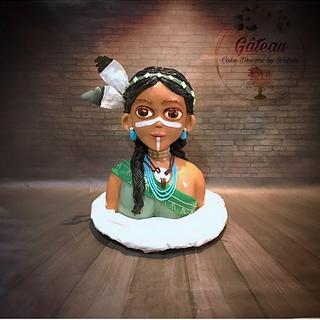 3d cartoon girl - Cake by Wafaa mahmoud