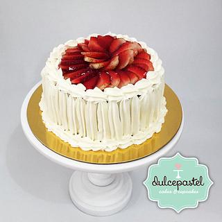 Strawberries cold cake - Torta Fría de Fresas