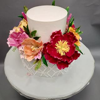 Flowers - Cake by Michelle's Sweet Temptation