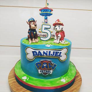 Marshall and Chase Paw Patrol - Cake by Tortalie