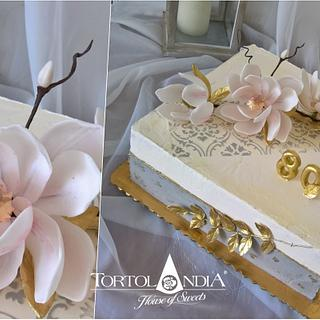 80th birthday cake - Cake by Tortolandia
