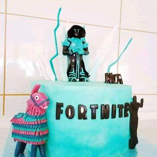 Fortnite Ice king cake
