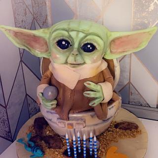 Baby yoda birthday cake - Cake by Ashlei Samuels