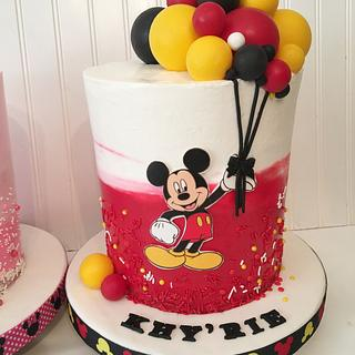 Mickey Balloon cake