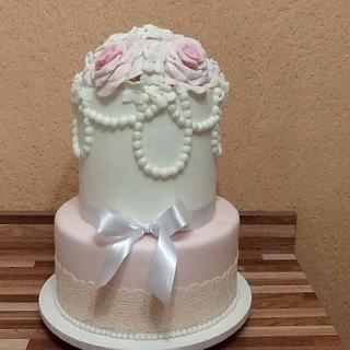 My first lace cake