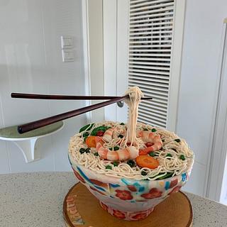 Father's day cake - antigravity noodles - Cake by alek0
