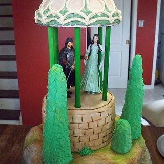 LOTR themed wedding cake