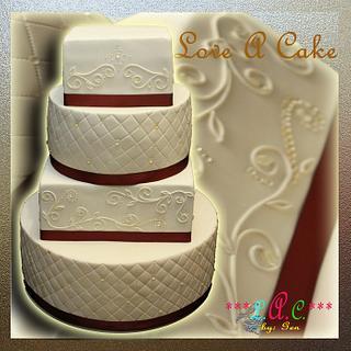 Diamonds and Swirls-themed Diamond (60th ) Wedding Anniversary Cake