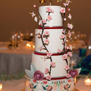Sugar Blossom Wedding Cake