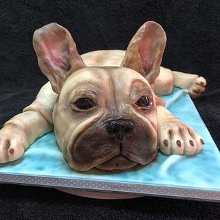 French bulldog cake - Cake by Katy133
