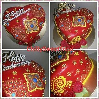 saree cake for anniversary