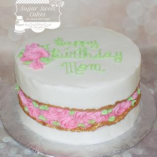 Rose Fault Line - Cake by Sugar Sweet Cakes