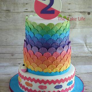 Girly fishing cake