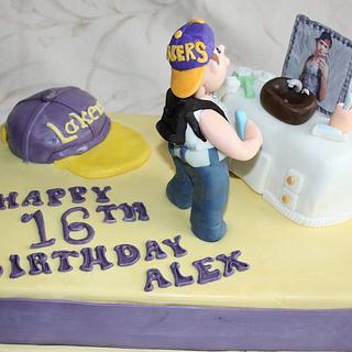 Teen Boys Sweet 16th Birthday Cake
