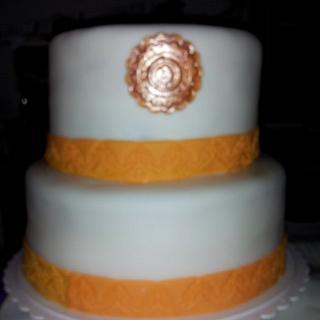 A Purity Wedding ceremony cake