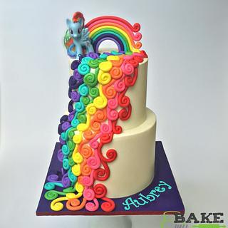 Bright swirls - Cake by Bake My Day Acadiana
