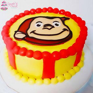 Cute George Monkey Cake
