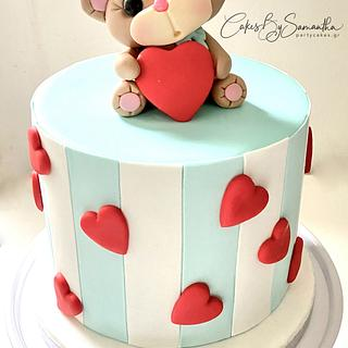 Just a Simple Teddy Bear Cake for Valentine's Day
