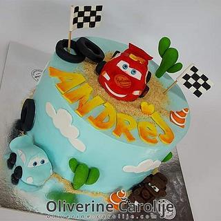 Lightning Mcqueen Cake  - Cake by Oliverine Čarolije