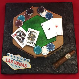 Las Vegas Poker Cake