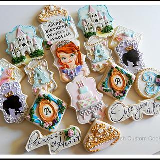 Princess Themed Birthday Cookies