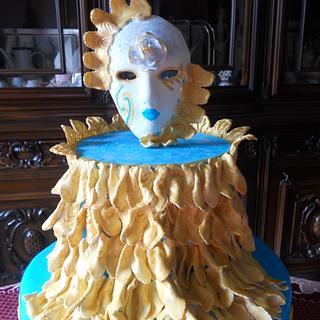 cake venetian carnival mask