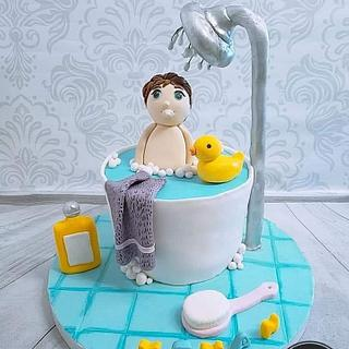 Baby bath cake